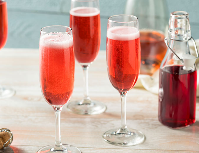Strawberry Pineapple Mimosa cocktail recipe