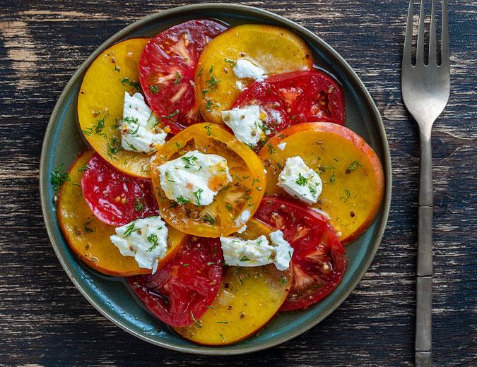 Ensalada de tomate y nectarina